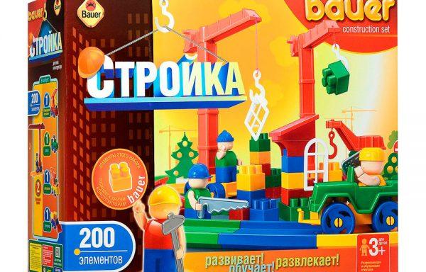 Конструктор Кроха «Стройка» 200 элементов